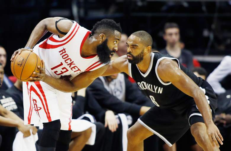 James Harden of the Houston Rockets is one of the NBA's leading MVP candidates in 2014-15. (Getty)