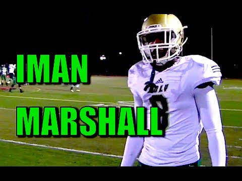 Defensive back Iman Marshall is one of the top recruits in the 2015 college football class. (YouTube)