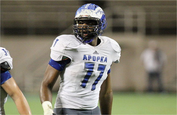 Apopka, Florida, offensive tackle Martez Ivey is one of the top recruits in the 2015 class. (Getty)