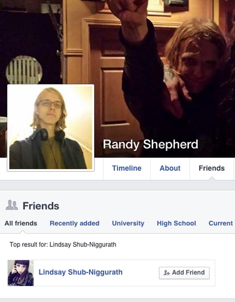 "Randall ""Randy"" Shepherd Facebook friends"