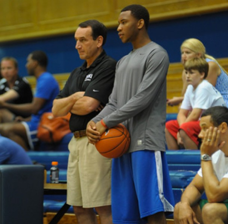 Rasheed Sulaimon and Duke Coach Mike Krzyzewski (Instagram/sheed_1)