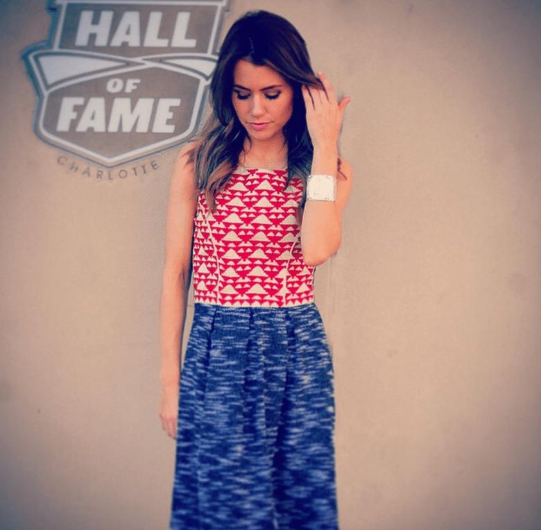 Jordan Fish wearing a Page 6 Boutique dress. (Instagram/xojordanfish)