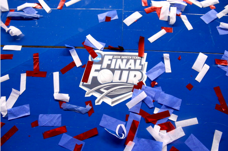 The Final Four logo is seen on the court following the NCAA Men's Final Four Championship between the Kentucky Wildcats and th Connecticut Huskies at AT&T Stadium on April 7, 2014 in Arlington, Texas. (Getty)