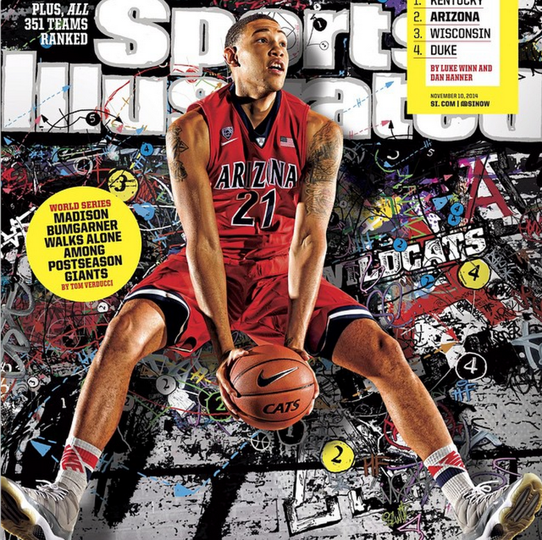 "Arizona Wildcats' junior Brandon Ashley posted this picture on Instagram with the caption: ""Blessed. It is truly an honor to be on the cover of Sports Illustrated."" (Instagram/_bash)"