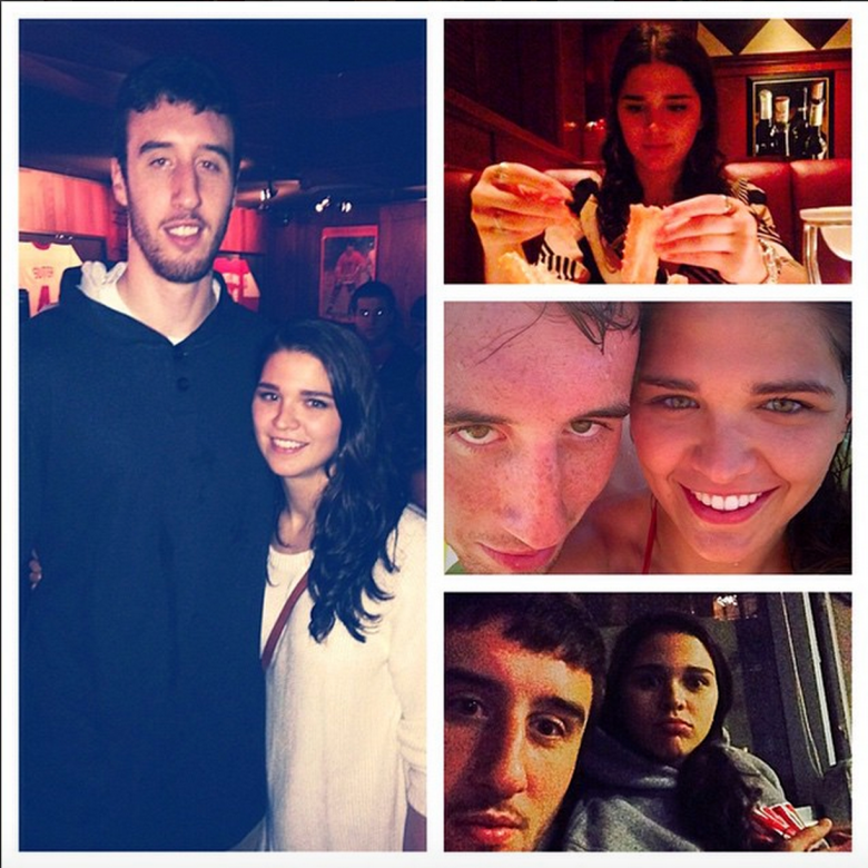 "Wisconsin's Frank Kaminsky posted this photo collage on Instagram with the caption: ""Happy 22nd birthday to my favorite girl. So thankful that I've been able to spend so much time with you over the last year. I wish I could be there to spend it with you. Love you Miss Deme."" (Instagram/fskpart3)"
