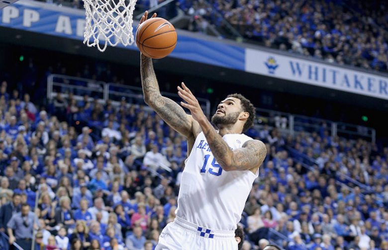 Willie Cauley-Stein #15 of the Kentucky Wildcats shoots the ball during the game against the South Carolina Gamecocks at Rupp Arena on February 14, 2015 in Lexington, Kentucky. (Getty)