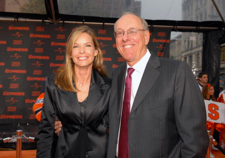 Syracuse University head men's basketball coach Jim Boeheim and his wife Juli attend the world premiere of 'The Express' at the Landmark Theater on September 12, 2008 in Syracuse, New York. (Getty)