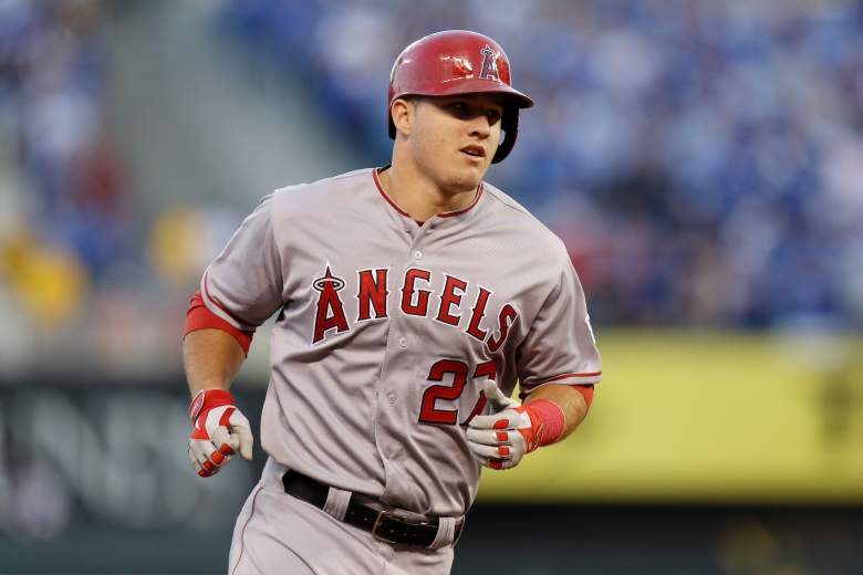Angels outfielder Mike Trout is widely considered the top-ranked fantasy baseball player. (Getty)