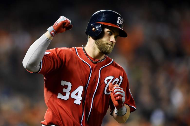 Bryce Harper and the Washington Nationals are the favorites to win the 2015 World Series. (Getty)