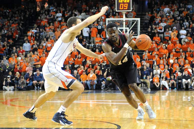 Steve Moundou-Missi and the Harvard Crimson have a date with rival Yale Saturday for a spot in the NCAA Tournament. (Getty)