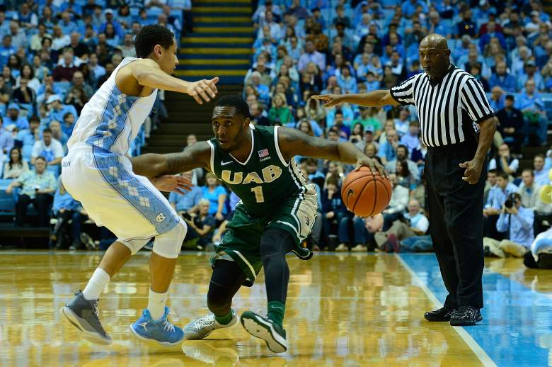 Denzell Watts and the UAB Blazers are in the NCAA Tournament for the first time since 2011. (Getty)