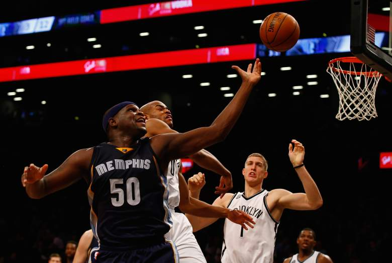 Zach Randolph and the Memphis Grizzlies are road favorites over the Bulls in Chicago. (Getty)