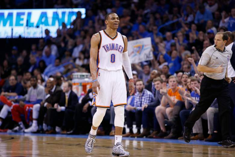 Russell Westbrook returned to action Wednesday night after undergoing facial surgery recently. (Getty)