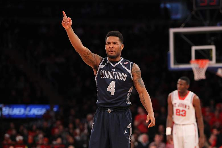 D'Vauntes Smith-Rivera and Georgetown  opened as a 7-point favorite over Eastern Washington. (Getty)