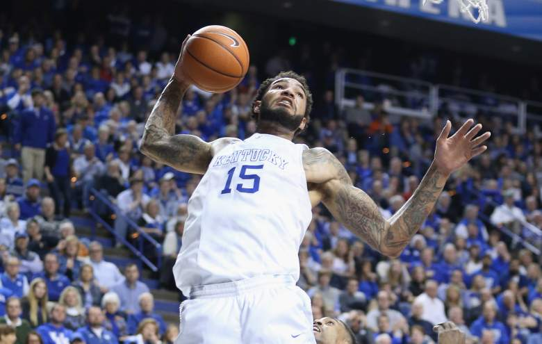 Willie Cauley-Stein and Kentucky are 2 wins away from a perfect regular season. (Getty)