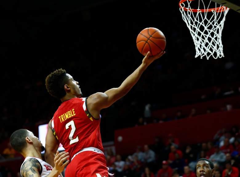 Maryland leading scorer Melo Trimble. (Getty)