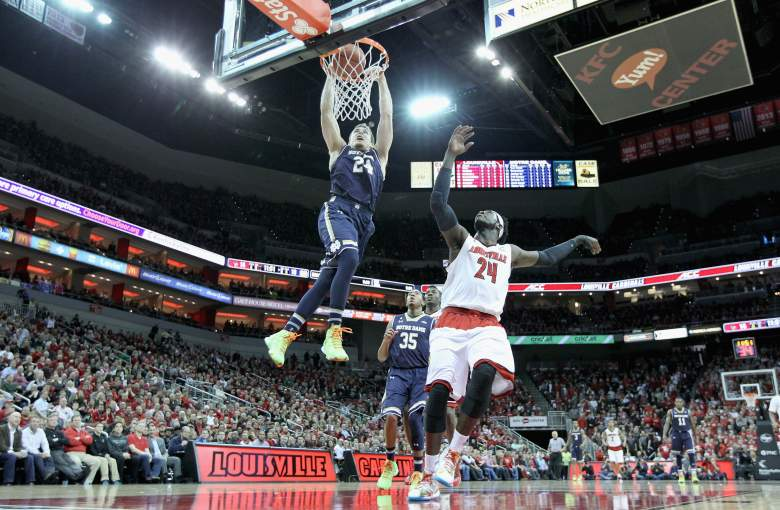 Notre Dame and Louisville will be looking to make noise in the ACC Tournament. (Getty)