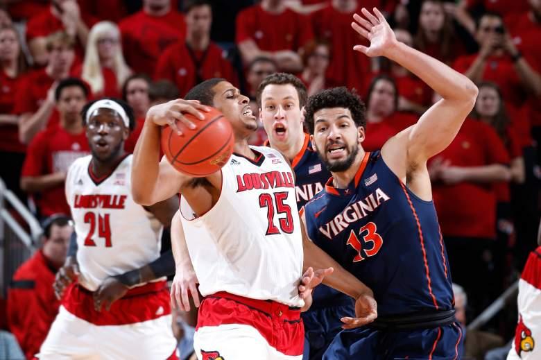 Louisville knocked off Virginia in the regular-season finale. (Getty)