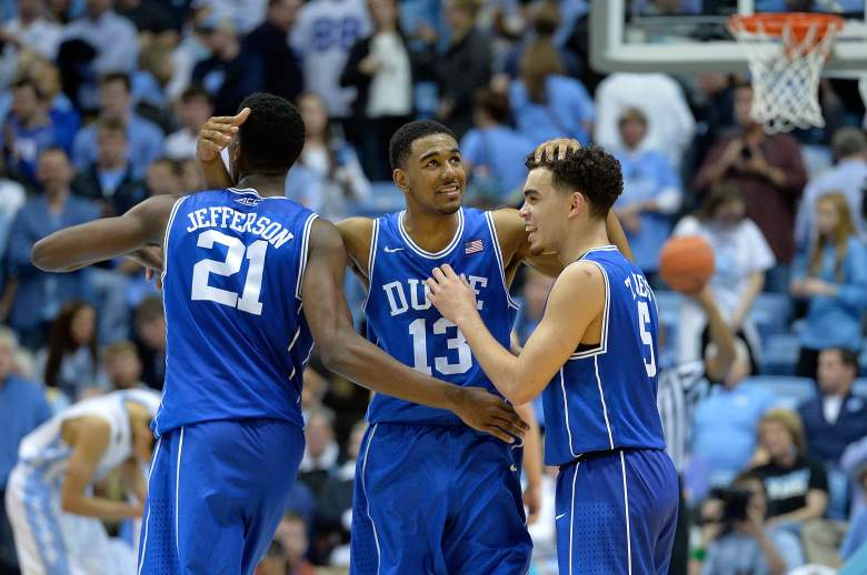 Duke nabbed the top seed in the South Region. (Getty)