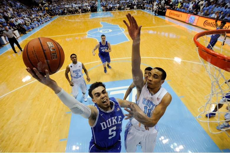 Tyus Jones and Duke are the favorites to win the ACC Tournament. (Getty)