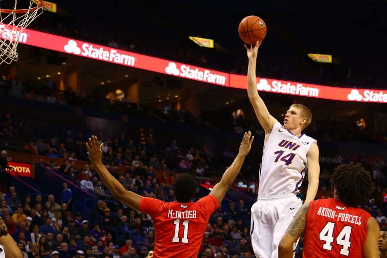 Nate Buss and Northern Iowa are favored over Wyoming in their Friday matchup. (Getty)