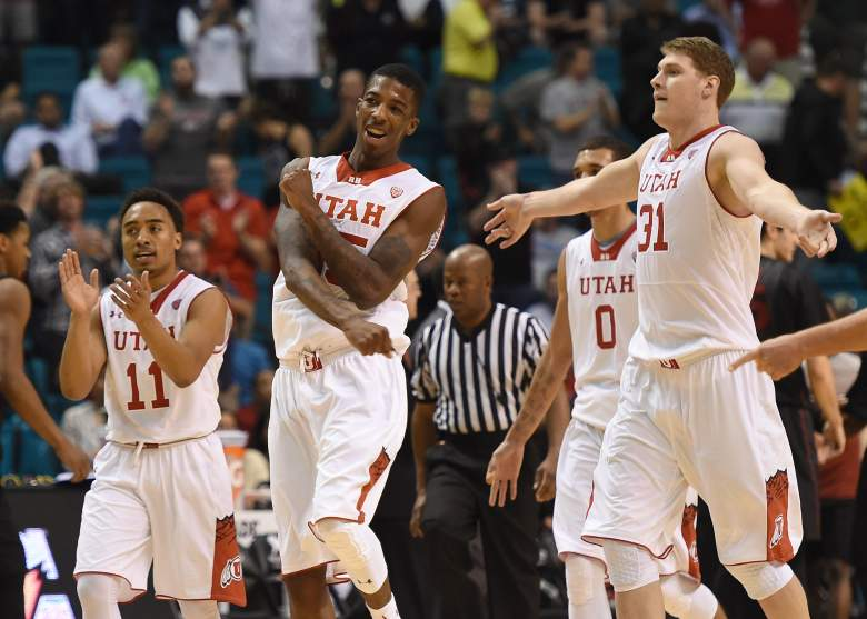 Utah is favored over Stephen F. Austin in their Round of 64 NCAA Tournament game on Thursday. (Getty)