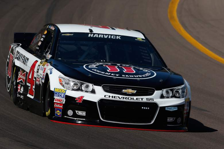 Kevin Harvick will start on the pole for Sunday's CampingWorld.com 500 at Phoenix. (Getty)