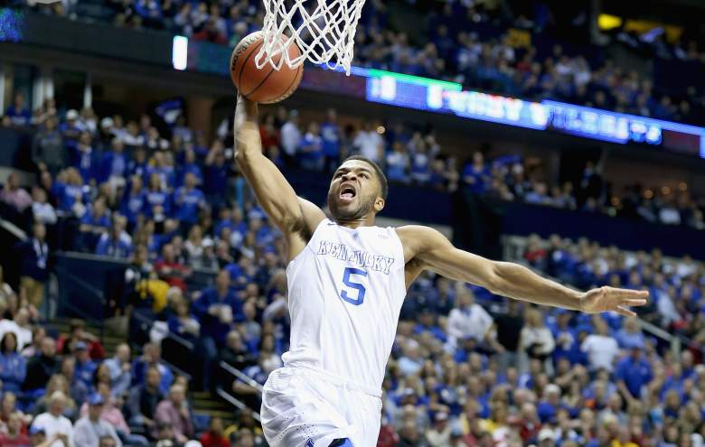 Andrew Harrison and Kentucky are the heavy favorites in the Midwest Regional. (Getty)