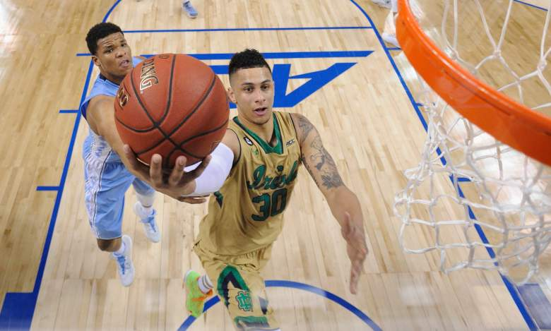 The oddsmakers like Notre Dame, who is coming off an ACC Tournament title. (Getty)