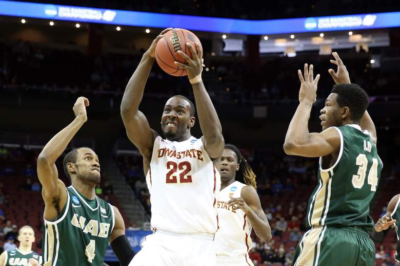 Iowa State's Dustin Hogue goes to the basket during the Cyclones' game against UAB Thursday. (Getty)