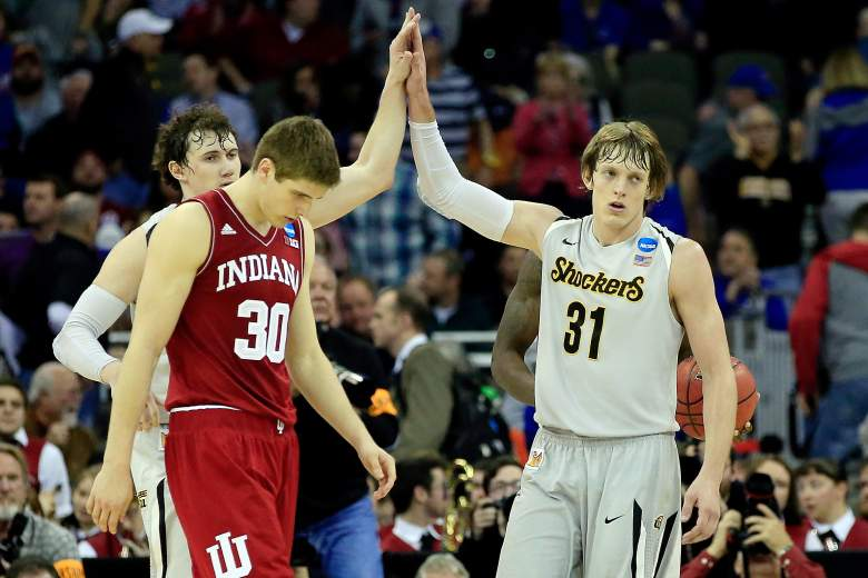Ron Baker and Wichita State are the slight underdogs vs. Kansas. (Getty)