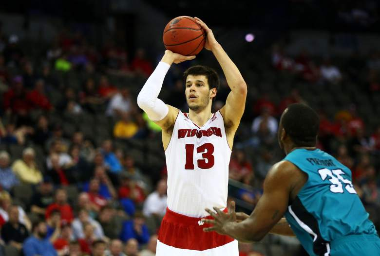 Wisconsin and Duje Dukan are double-digit favorites over Oregon. (Getty)