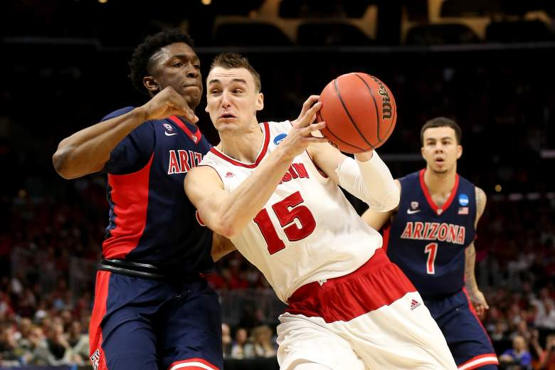 Wisconsin's Sam Dekker poured in 27 points in a win over Arizona. (Getty)