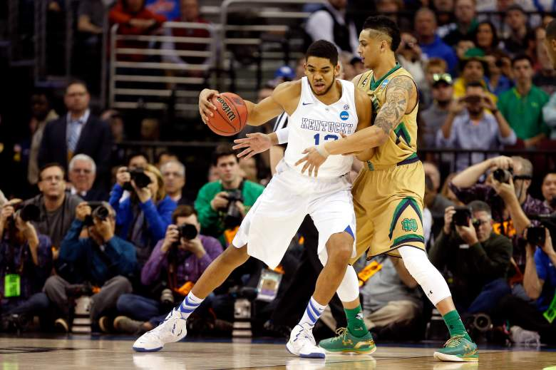 Kentucky's Karl-Anthony Towns was named a second-team All-American. (Getty)