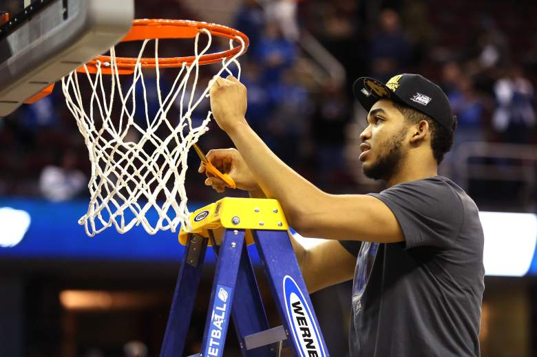 Kentucky All-American Karl-Anthony Towns is the favorite to win the Final Four Most Outstanding Player. (Getty)