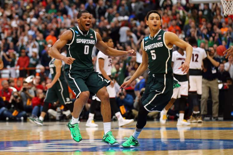 Despite its No. 7 seed Michigan State has rolled into the Final Four where it'll face Duke. (Getty)