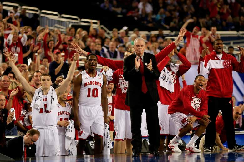 The Wisconsin Badgers reached the Final Four for the first time in Ryan's tenure in 2014. (Getty)