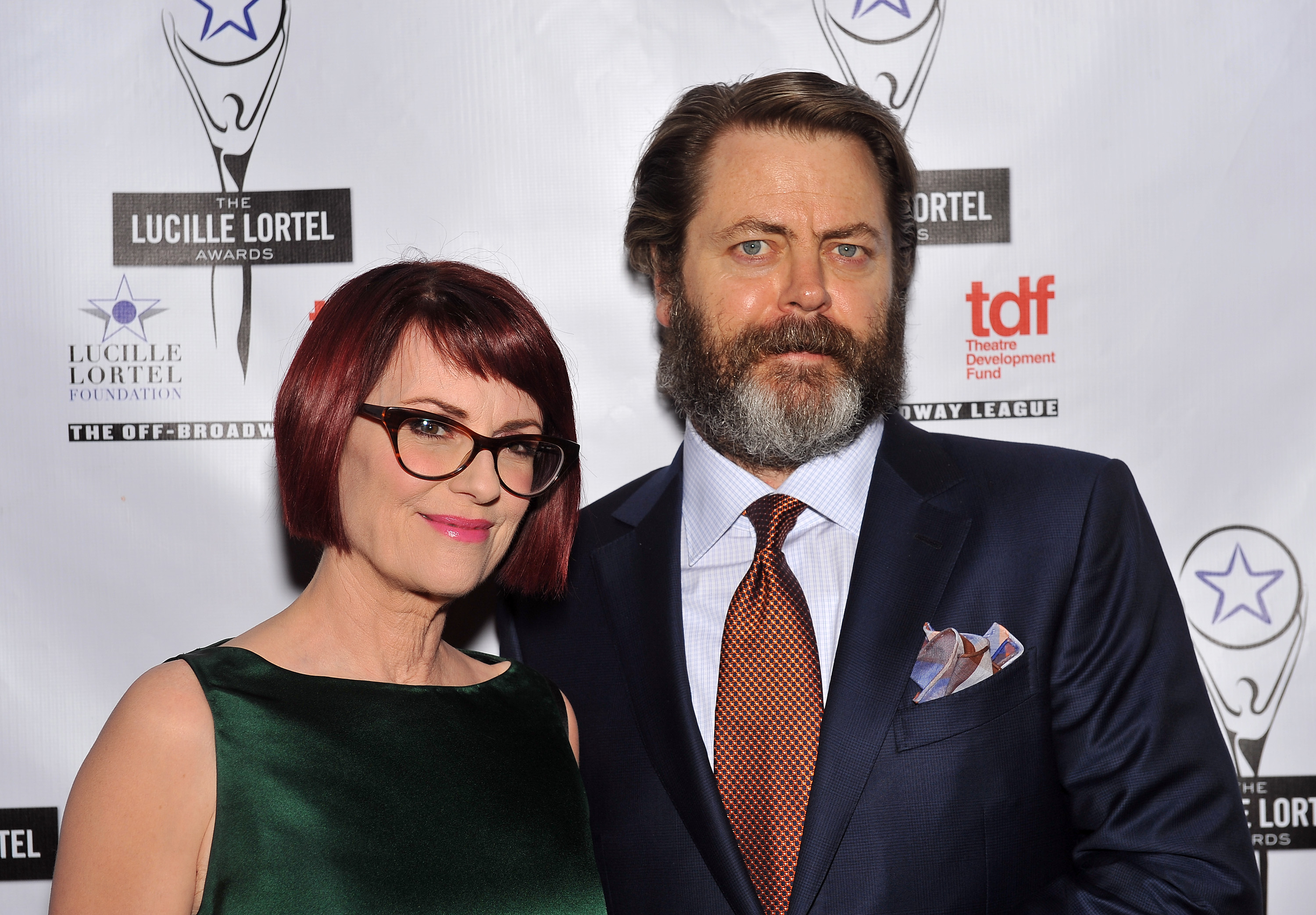 Actors Megan Mullally and Nick Offerman cancelled a show in Indiana as a result of the bill being passed. (Getty)