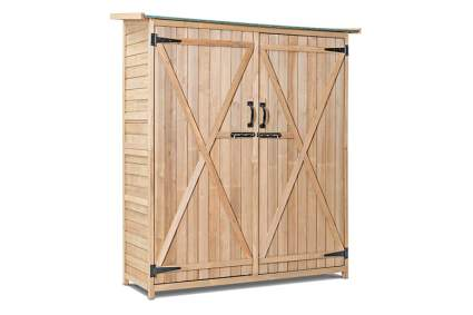 fir wood outdoor storage shed