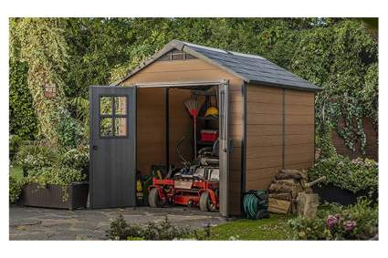 large resin outdoor storage shed