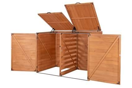 wooden trash bin storage sheds