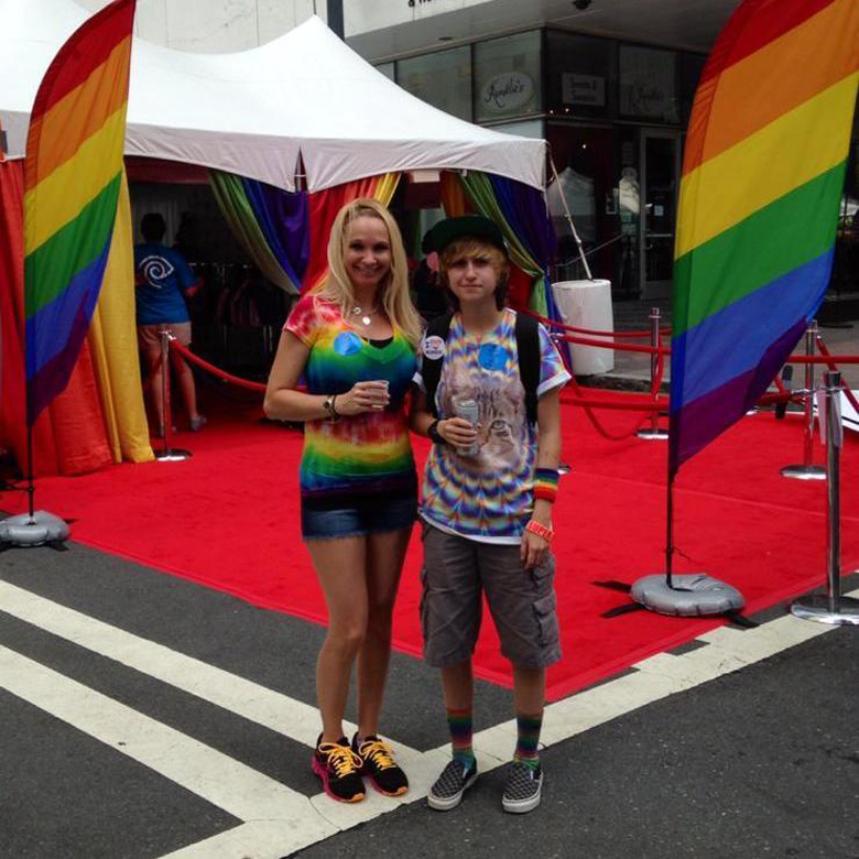 Ash at the Pride parade in Charlotte during the summer of 2014.