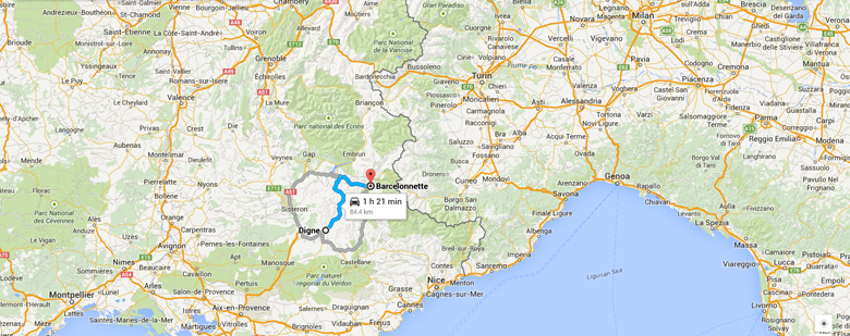 Barcelonette Map