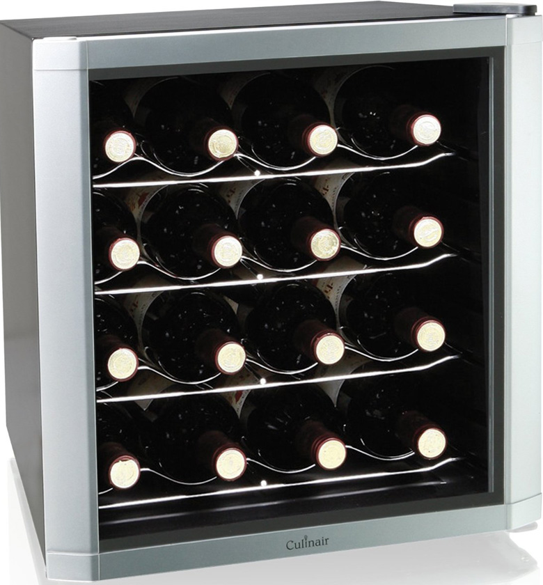 Culinair AW162S Thermoelectric 16-Bottle Wine Cooler, wine cooler, wine fridge, wine refrigerator