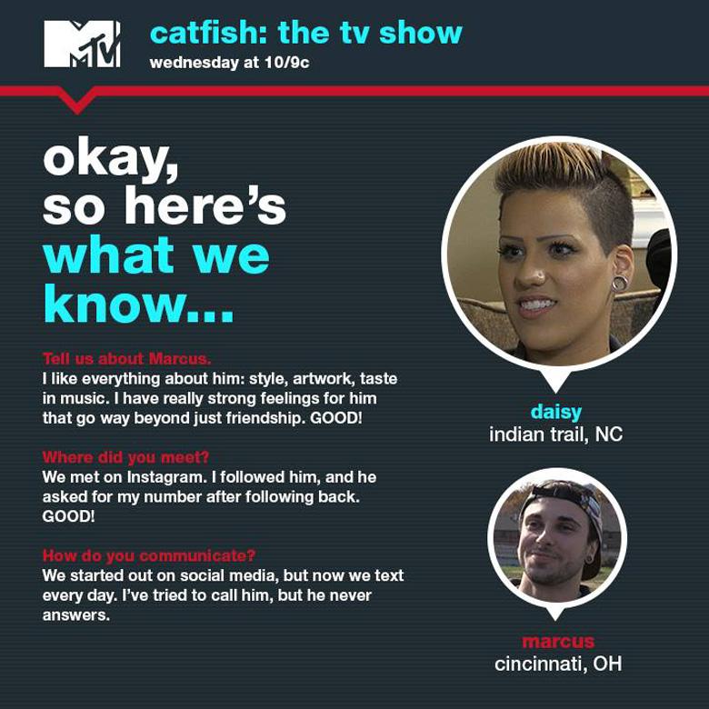 Daisy Catfish, Tyler Oakley Catfish, Marcus Catfish, Daisy And Marcus Catfish, Nev Schulman, Catfish Episodes Season 4