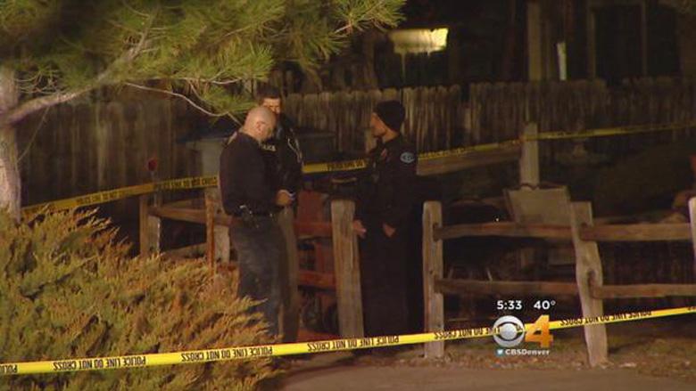 Police processing the scene in Longmont. (Screengrab via CBS Denver)