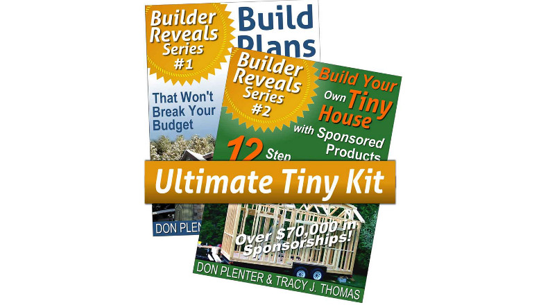 'Build Your Own Tiny House with Sponsored Products & Build Plans for Your Tiny House (Builder Reveals Series)' by Don Plenter, tiny house ebook floor plans