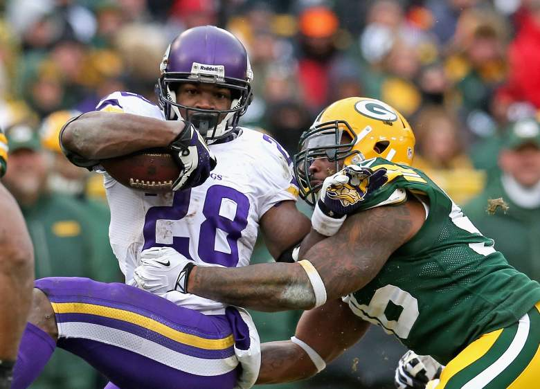Vikings running back Adrian Peterson is back after missing nearly the entire 2014 season. (Getty)