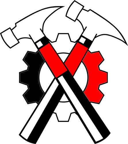 Hammerskins logo.