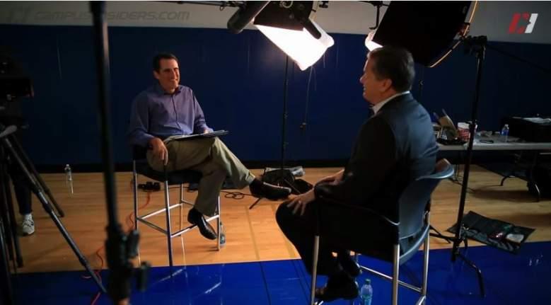 "Seth Davis interviews Kentucky head coach John Calipari on ""The Seth Davis Show"" on Campus Insiders. (YouTube)"